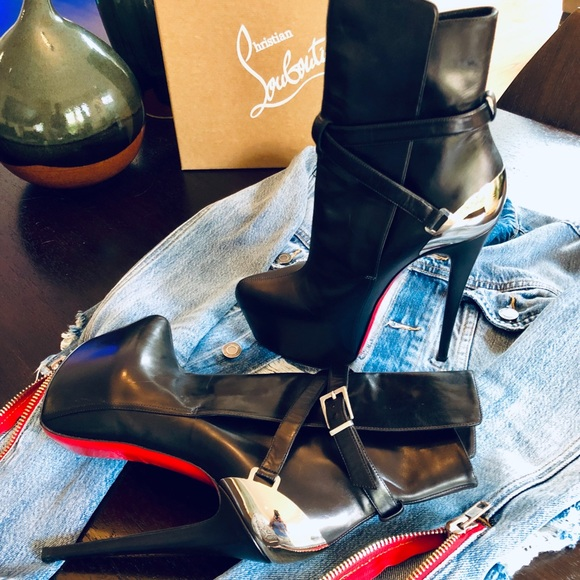 newest b9d6a 2a295 Christian Louboutin Equestria Platform Ankle Boots
